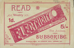 Advert For Electricity & Electrical Engineering, Periodical